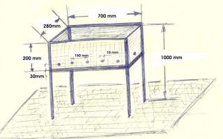 Размеры мангала для шашлыка: чертежи и подробная инструкция