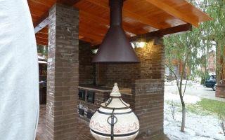 Как сделать тандыр на даче для шашлыка с крышей или навесом?