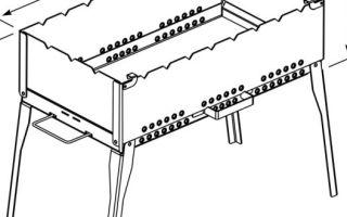 Разборный переносной мангал: делаем своими руками из металла, а также примеры чертежей с размерами